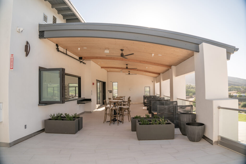 members lounge patio
